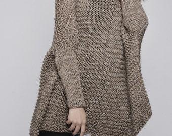 OVERSIZED Woman sweater/ Knit sweater in Mocha