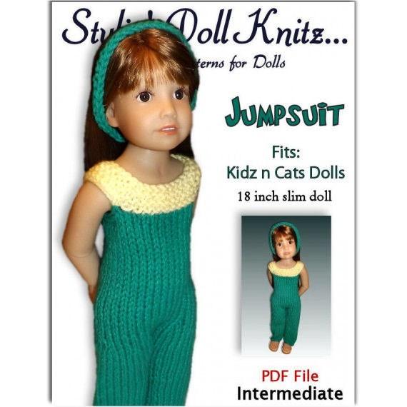 Knitting Patterns For Kidz N Cats Dolls : Knitting Pattern fits Kidz n Cats Dolls. Pant Jumpsuit.