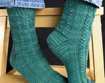 Maffit Sock Knitting Pattern - PDF
