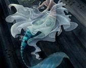 Mermaid Transformation - 8x10 print