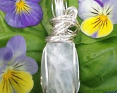 Sterling Selenite Pendant - Artisan Stone Jewelry