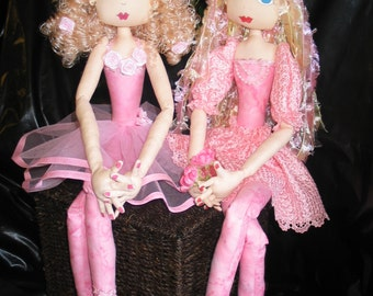 e-Pattern - Libby and LilyRose - beautiful tall ballerina dolls