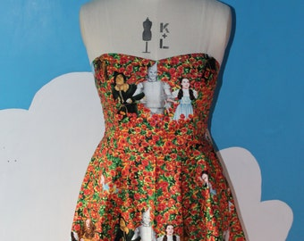 last one - wizard of Oz poppies sweet heart dress - all sizes