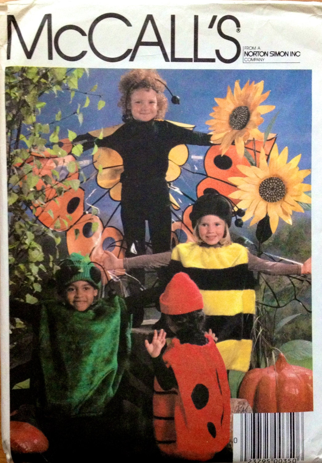 Vintage Halloween Costume Sewing Pattern Spider Bumble Bee