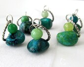 The Standing Stones - Six Handmade Stitch Markers - 9.0 mm (13 US) - Limited Edition