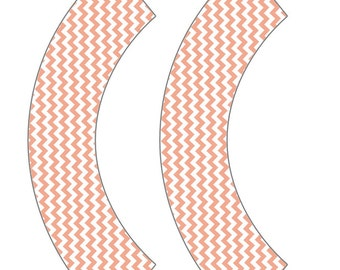 Peach Chevron Cupcake Wrappers