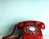 Cherry Red Vintage Telephone phone in near mint condition