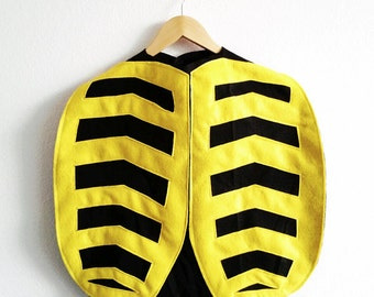 Bumble Bee Cape, Halloween Costume or Dress Up Cape