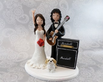 guitar player wedding cake topper guitar cake topper etsy 15015