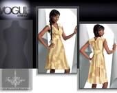 Vogue Pattern Tracy Reese Dress American Designer Summer Dress Sleeveless Vogue 1086Easy Beginner Sewing Pattern 8, 10, 12, 14, 16