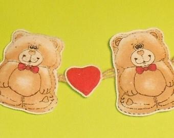 Mini Teddy Bear Garland - Cute for Kids Room or Baby Room