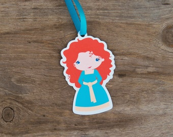 Brave Friends Party Collection - Set of 10 Merida Favor Tags by The Birthday House