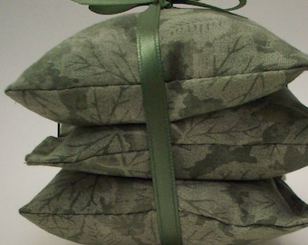 "Woodland Balsam Sachets - Mossy Leaves Drawer Freshener - Hostess Teacher Gift - Gift Under 10 Dollars - Approximate Size - 3 3/4"" x 3 3/4"""