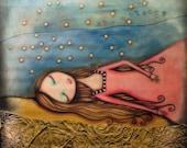 She Sleeps - 8x8 Signed Print