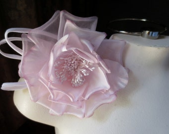 Mauve Silk Flower Millinery Rose for Bridal Sashes, Headpieces, Hats, Costumes MF 133