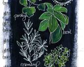 Art Print- Chalkboard Style Kitchen Herbs