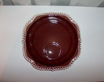 4 Chesterton Brown Luncheon Plates by Harkerware