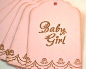Baby Shower Favor Tags...Infant Gift Tags...Girl Baby Shower Tags...