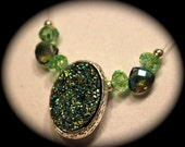 Green Slider Pendant Necklace
