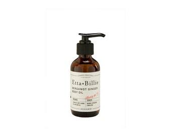 Bergamot Ginger Body Oil Natural Certified Organic Ingredients