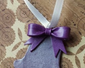 Purple Silver Bell Ornament