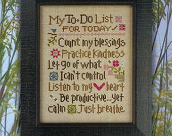 Lizzie Kate - My To Do List 158 - Counted Cross Stitch Pattern Chart