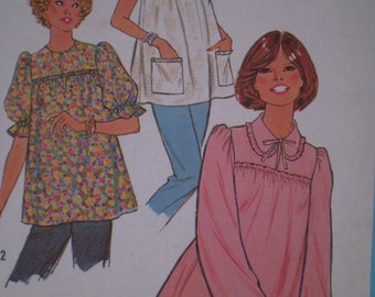 Simplicity 8608 - Misses MATERNITY PULLOVER BLOUSE, Size 12 Miss - Maternity Fashion, Styles - Simplicity Sewing Pattern