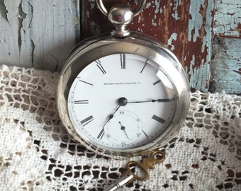 Antique Elgin Pocket Watch 1882 by avintageobsession on etsy...20% Discount