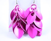 Scales of the Dragon Earrings - Pink