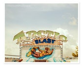 Carnival Photograph - Summer Photography - 8x10 print - dreamy surreal - snowboarder arcade neon lights - midway pop