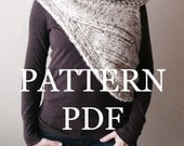 PATTERN PDF - Summer Sale Price - Pattern for DIY Panem Katniss Inspired Cowl - Two Looks - Easy Knitting Pattern - customizable sizes