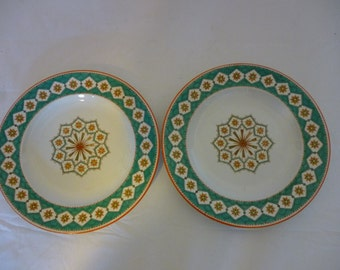 SALE Set of 2 Rare COPELAND Late Spode Hand Painted Bread or Salad Plates, England 1846-1867
