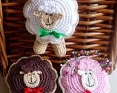 Crochet Sheep Ornament, Pincushion, Toy Pattern, DIY
