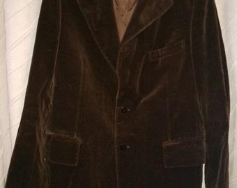 Vintage 70's Yves Saint Laurent YSL Velvet Blazer Jacket, Trendsetter Rothschild's, Made in France, Sportcoat
