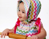 Summer Sun Bonnet -  Baby Sunbonnet - Sew Modern  Reversible Bonnet - Funky and Mod Style Hat - Sunbonnet Pattern - Sun Bonnet Pattern PDF