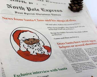 North Pole Express - Christmas Newspaper - News from Santa and his magical elves