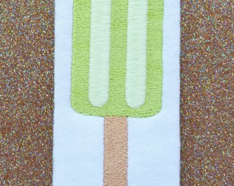 Popsicle Embroidery Design, INSTANT DOWNLOAD, Design for Machine Embroidery 4x4