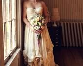 "Organic linen and vintage lace ""Dana"" Dress"