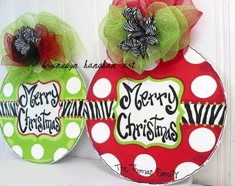 Zebra Ornament Door Hanger - Bronwyn Hanahan Art