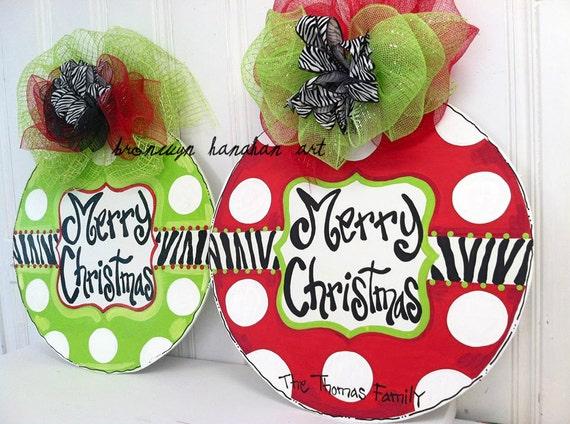 Zebra Ornament Door Hanger - Bronwyn Hanahan Art
