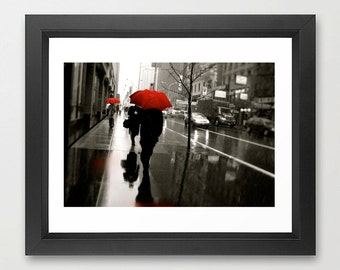 New York City Rainy Day Umbrella Photograph