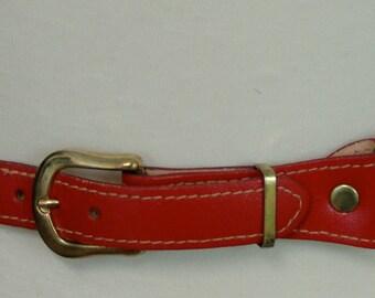 Vintage Red Stretchy BELT, 1980s