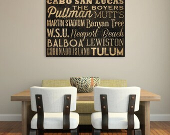 Personalized - CUSTOM - READY to HANG - Stretched Canvas Wall Art Bus Scroll Sign Poster Quote Subway