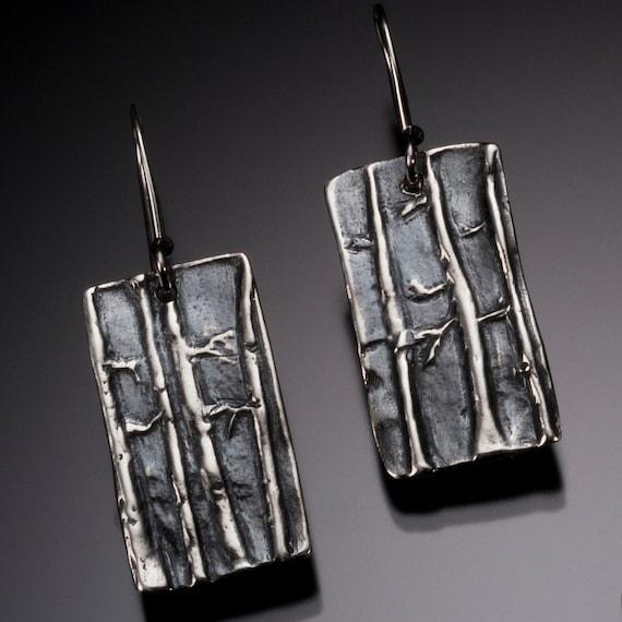 Aspen Trees Silver Earrings