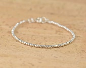 Sterling silver beads  bracelet.Sterling silver clasp