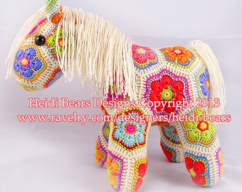Fatty Lumpkin the Brave African Flower Pony Crochet Pattern
