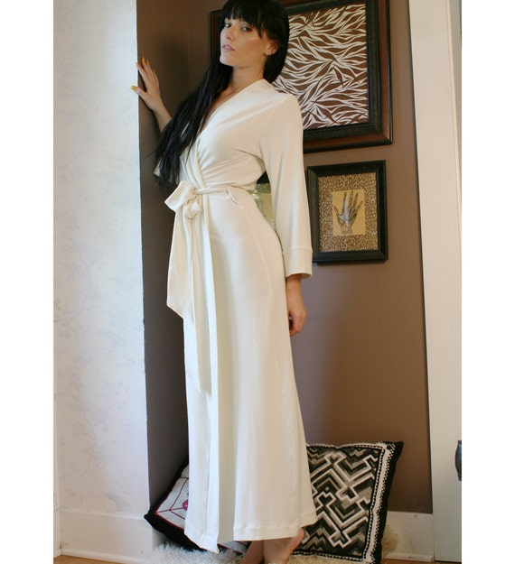 Womens Long Robe Bamboo Terry Made To Order