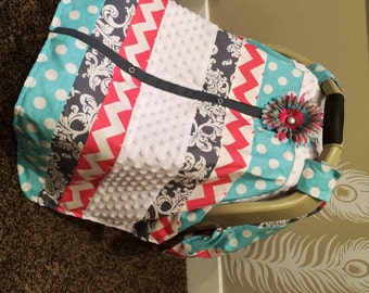 Car Seat Canopy STUNNING patchwork  / Car seat cover / car seat canopy / carseat cover / carseat canopy / nursing cover