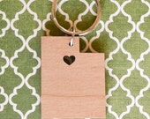 Salt Lake City, Utah Love Wood Key Ring