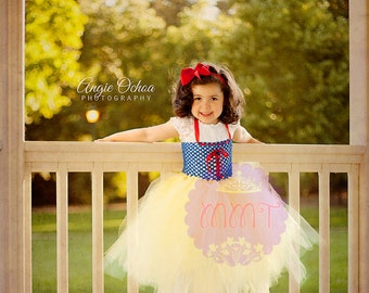 Princess Snow White Dress by MMT 12 months - 4T